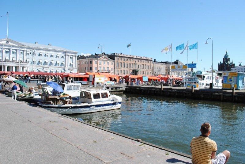 A calm summer in Helsinki, Finland
