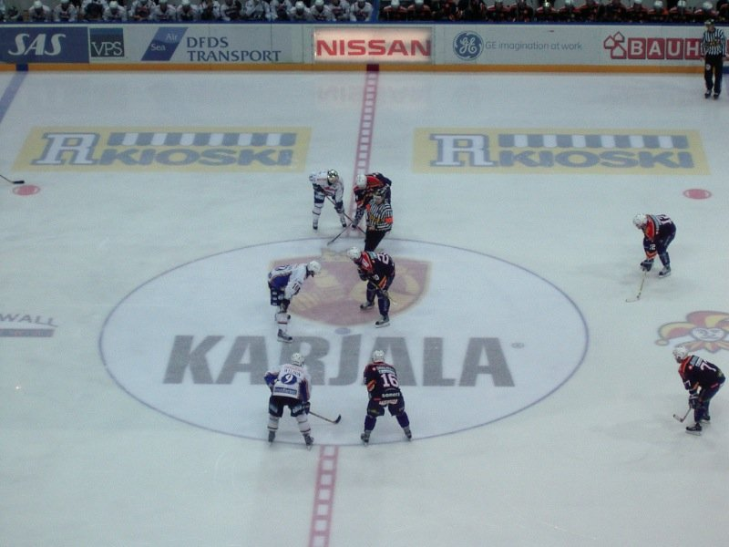 Hockey match in Helsinki, Finland