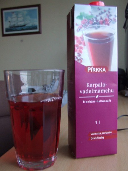 Finnish cranberry juice
