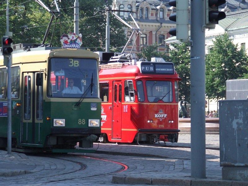 Tram in Helsinki, Finland