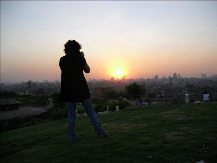 Cairo Egypt Al Azhar Park Sunset