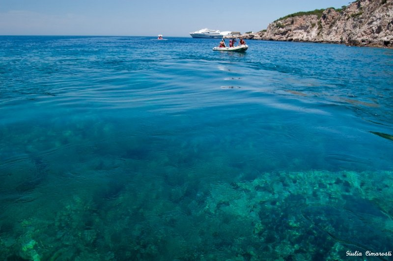 Clear water at Tremiti Archipelagos