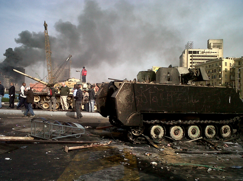 "Tahrir Square, Jan 29th 2011, morning. ""the day after"""