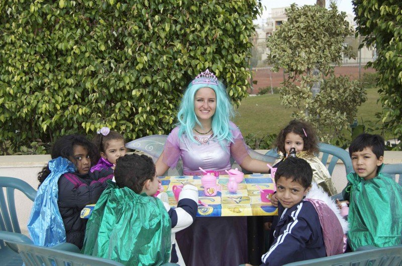 Volunteering with children in Egypt