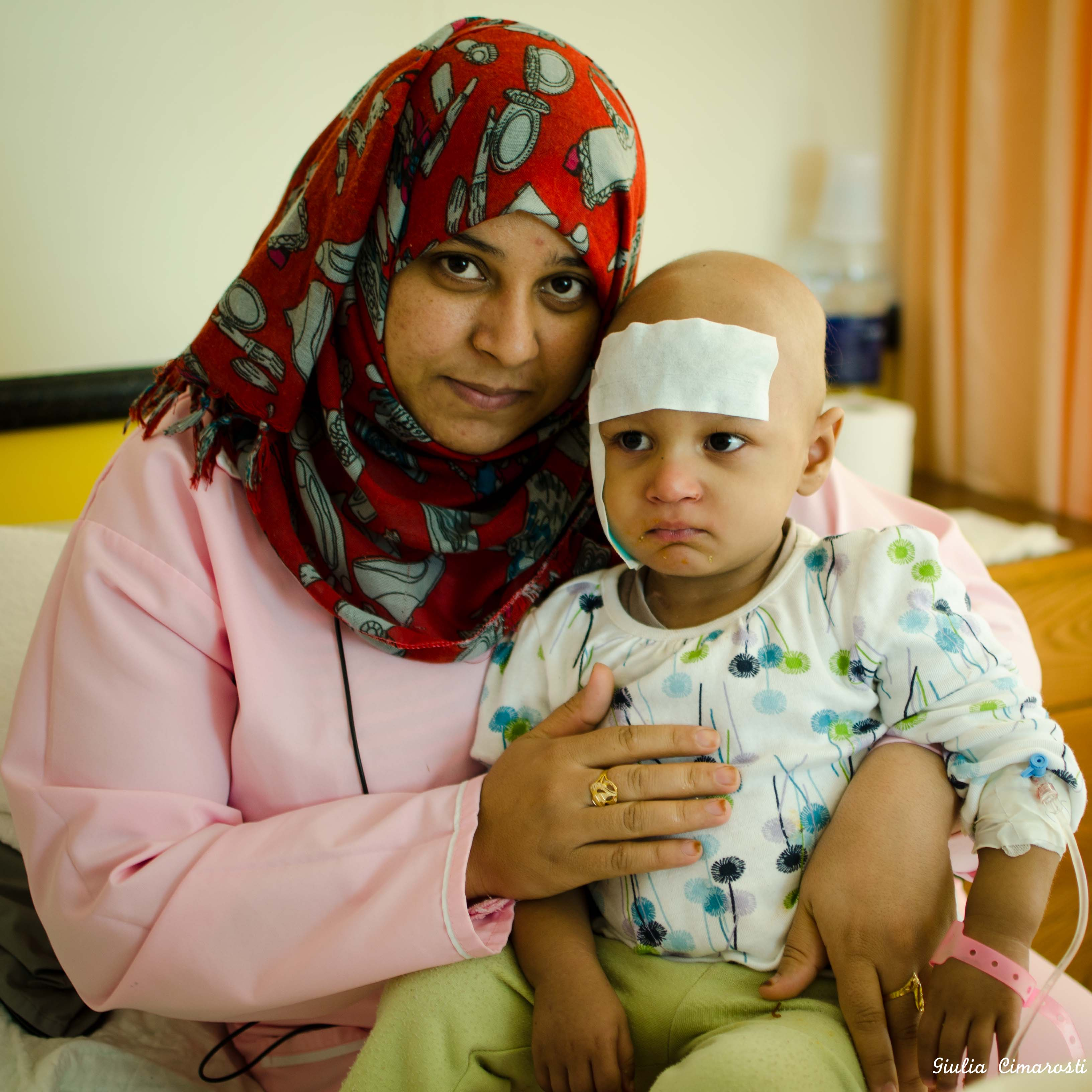 A little girl at the 57357 Children Cancer Hospital, Cairo