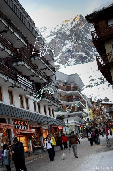Cervinia: the main street
