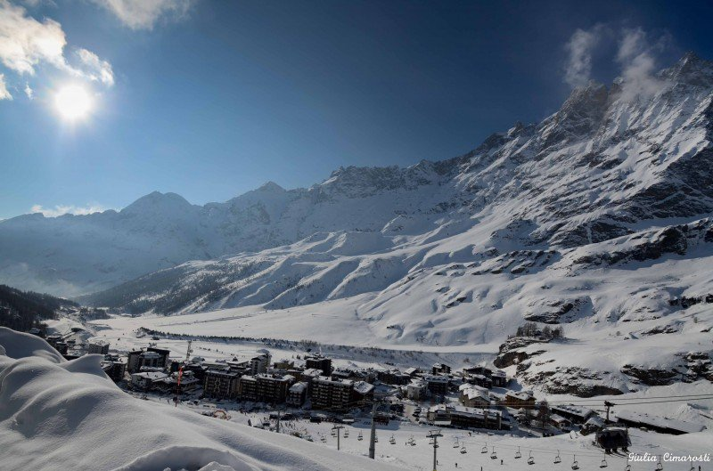 Breuil-Cervinia: a panoramic view from above