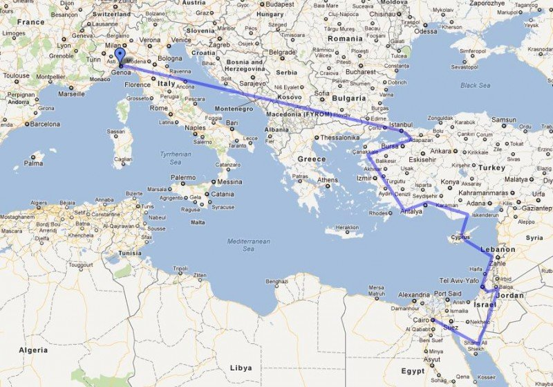 The journey: Turkey to Egypt by land