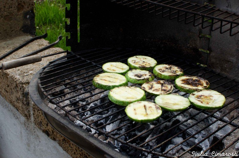 Vegetables barbecue in the garden