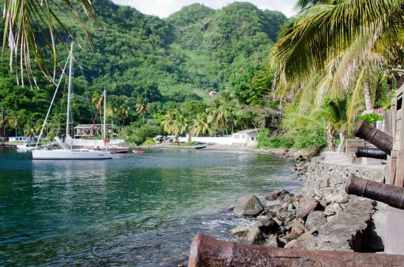 Wallilabou Bay, where Pirates of the Caribbean shooted