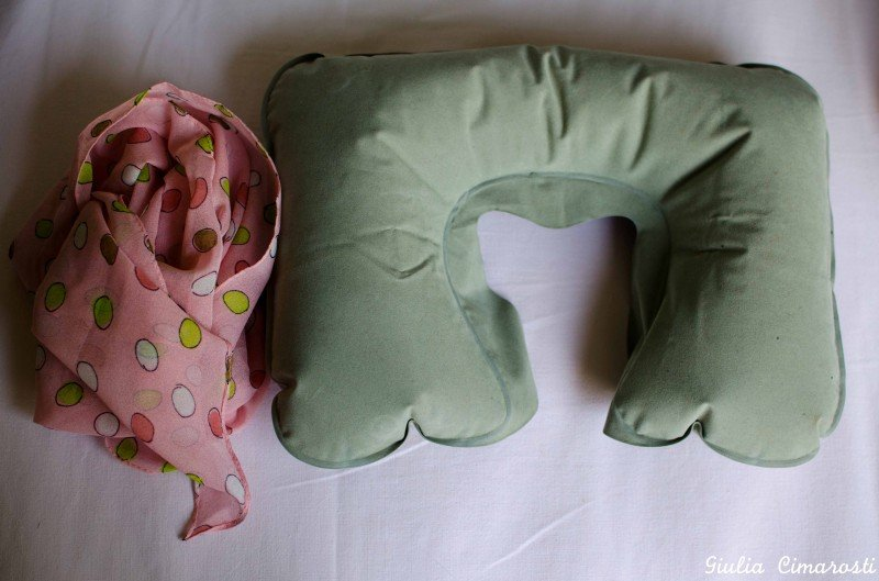 U shaped travel pillow and scarf