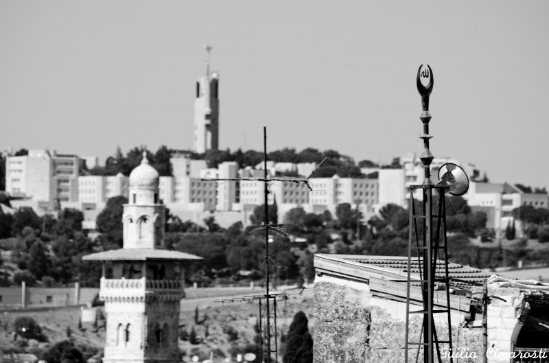 Old Jerusalem as seen from the rooftops
