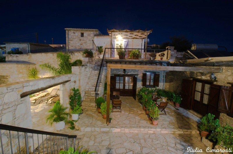 Skarinou Village by night