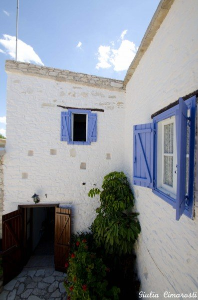 Skarinou Village - the walls of my apartment and the office underneath
