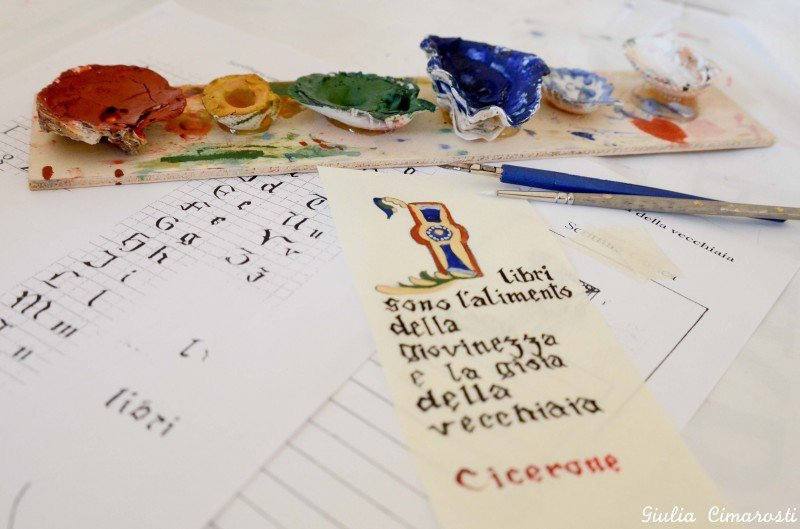 Gothic calligraphy workshop in Cesena