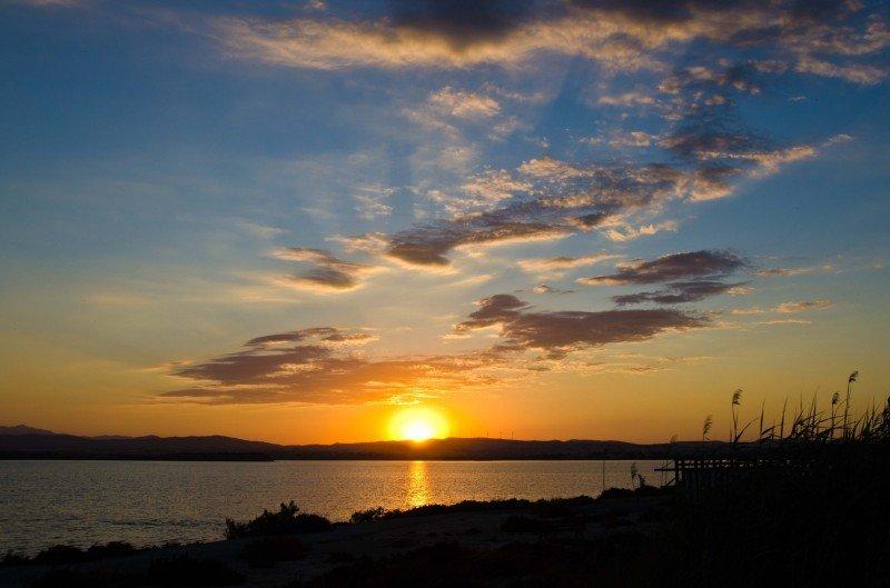 A beautiful sunset in Larnaka
