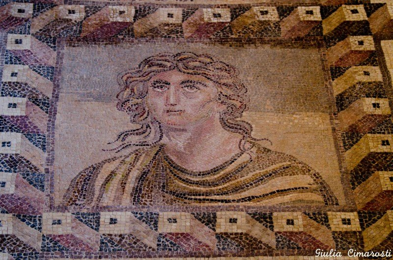 Paphos mosaics: Gea, Mother Earth