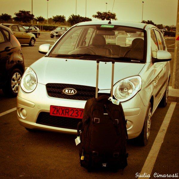 Dropping off my car at the Larnaka Airport