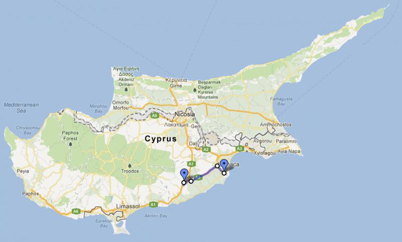 Cyprus Road Trip, day one: Larnaka to Skarinou