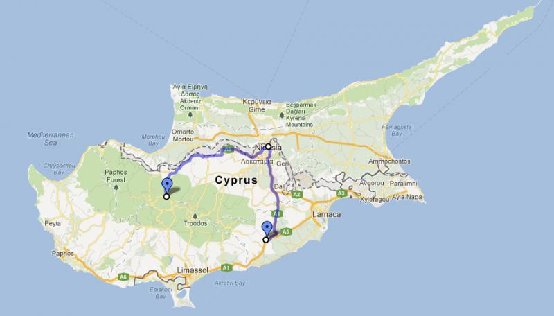 Cyprus road trip, day three: Skarinou to Nicosia and Kakopetria