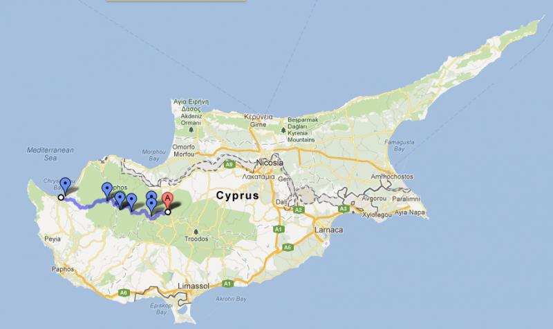 Cyprus road trip, day five: Kakopetria to Polis