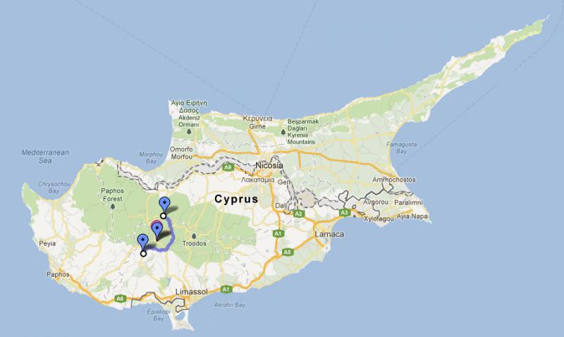 Cyprus road trip, day four: Kakopetria to Platres and Omodos