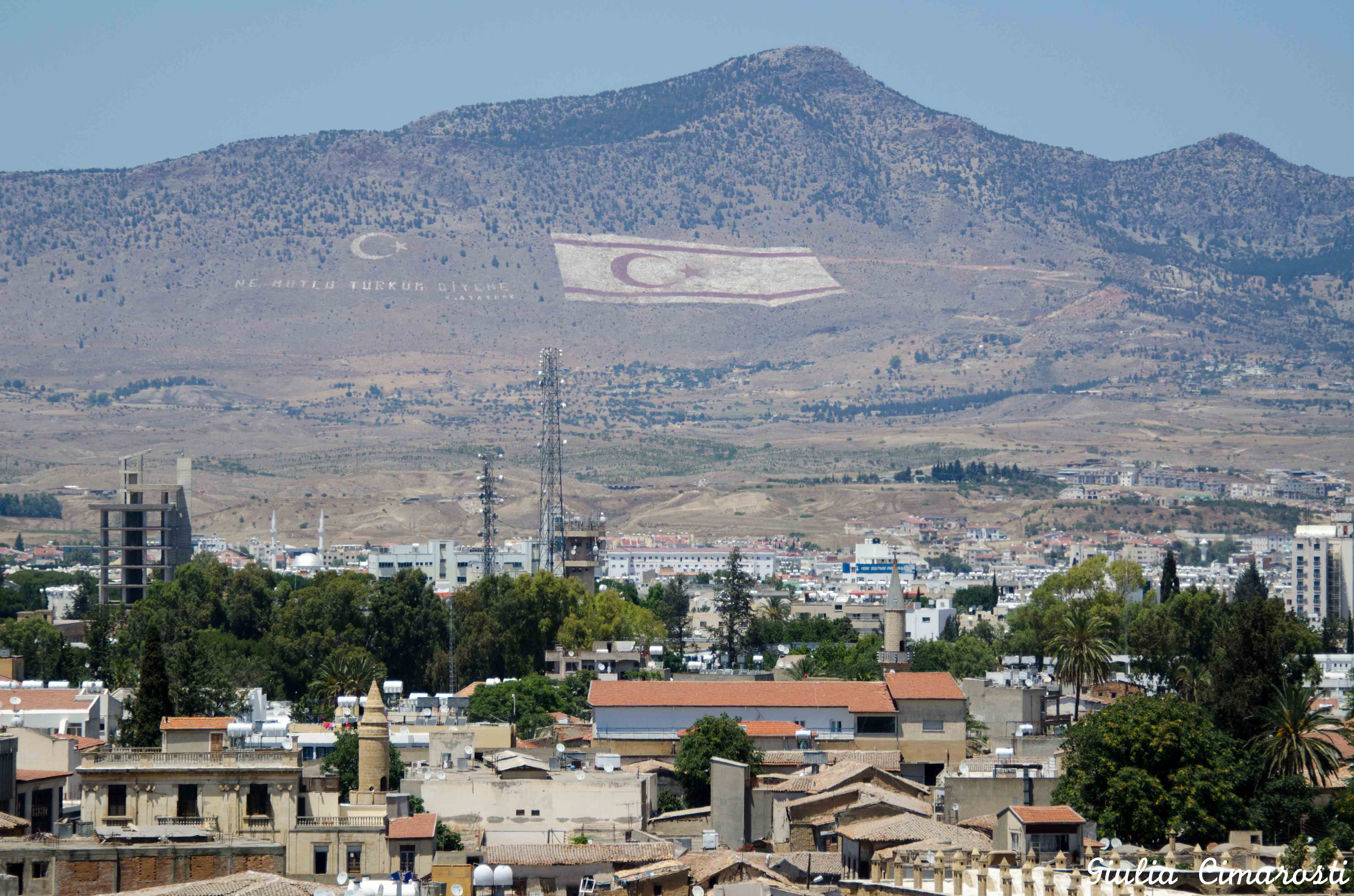 Nicosia cyprus the mountains in the occupied area i found it
