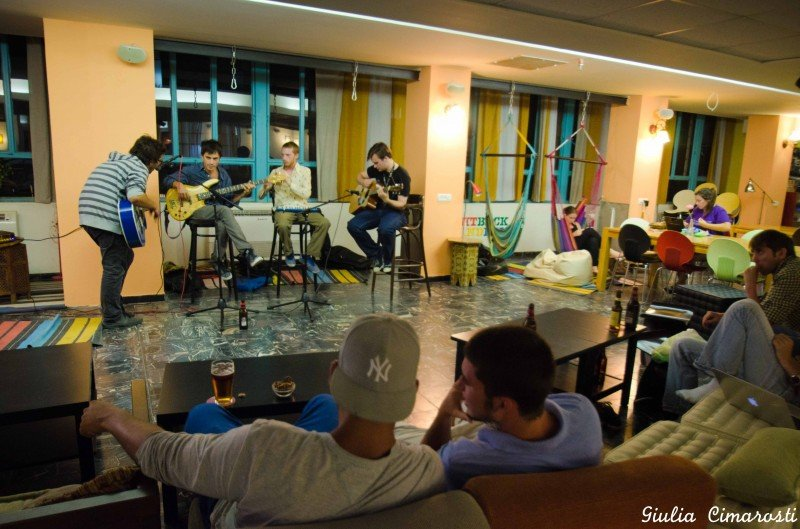 Open mic at Abraham Hostel