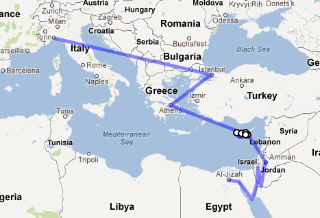 #MEtrip: the itinerary