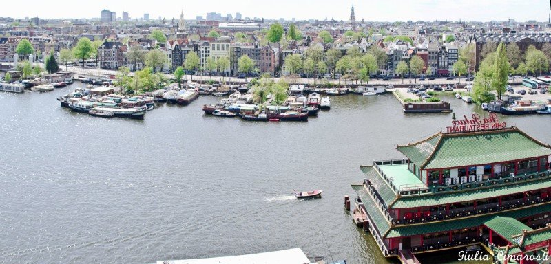 Amsterdam from above, as seen from Openbare Bibliotheek