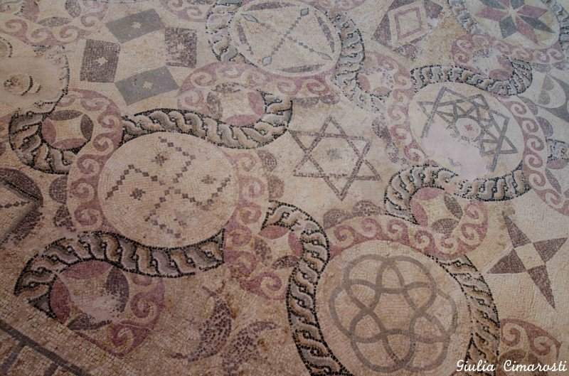Interesting symbols in the Pafos mosaics: a swastika and a star of David... next to each other?