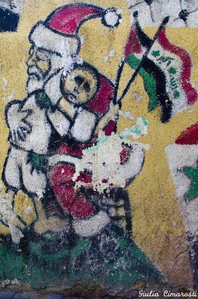 Ramallah: Santa graffiti