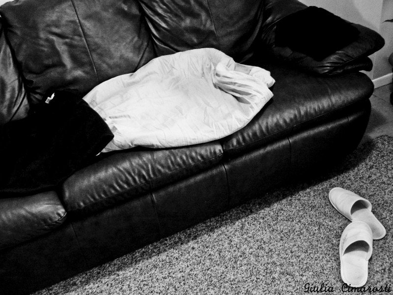 1: the couch where he used to sleep on our last days together