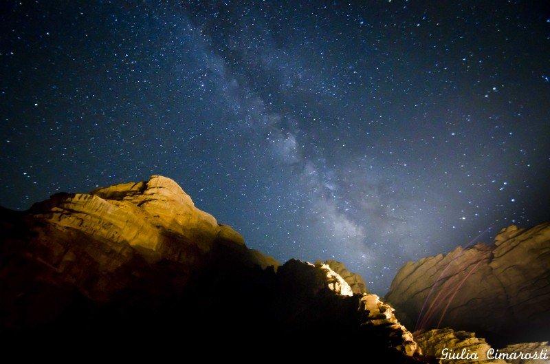 Wadi Rum by night: the Milky Way