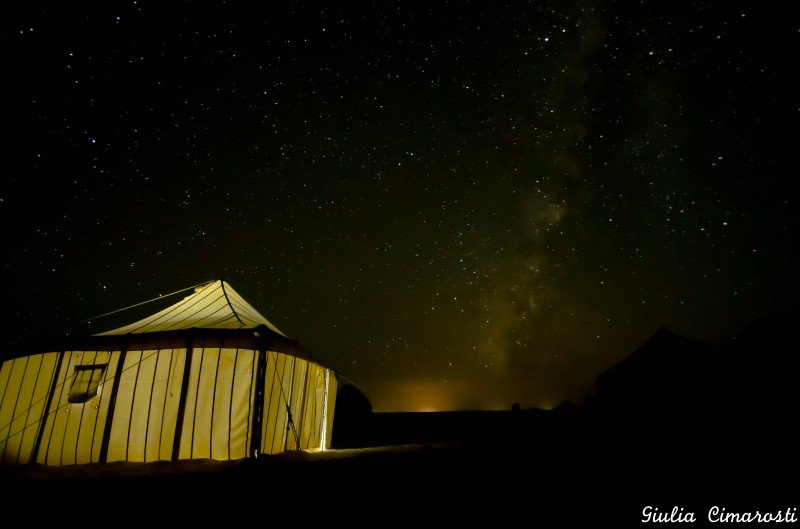 White Desert: my tent and the Milky Way