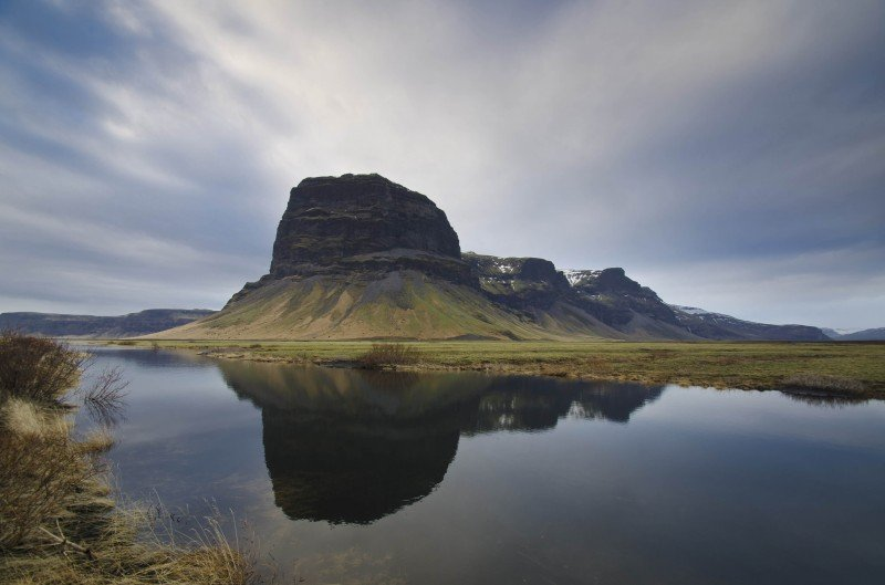 Mountain Lómagnúpur - reflections