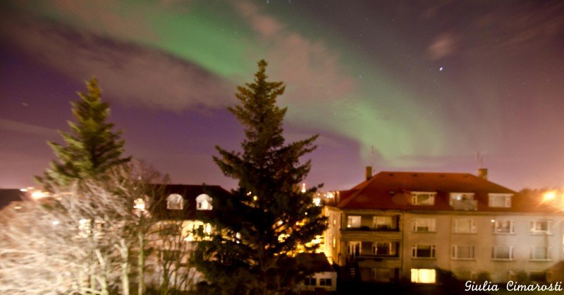 The Northern Lights as seen from my bedroom window