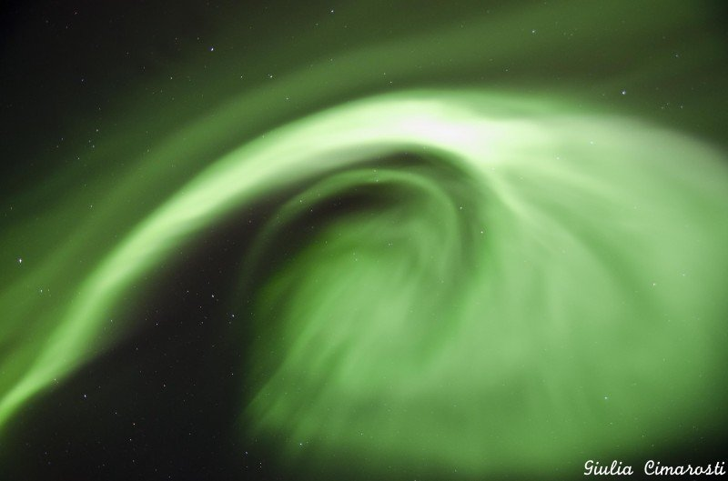 The Northern Lights dancing above my head