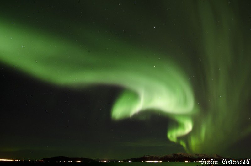Massive Northern Lights at Grotta Lighthouse... no excuses!