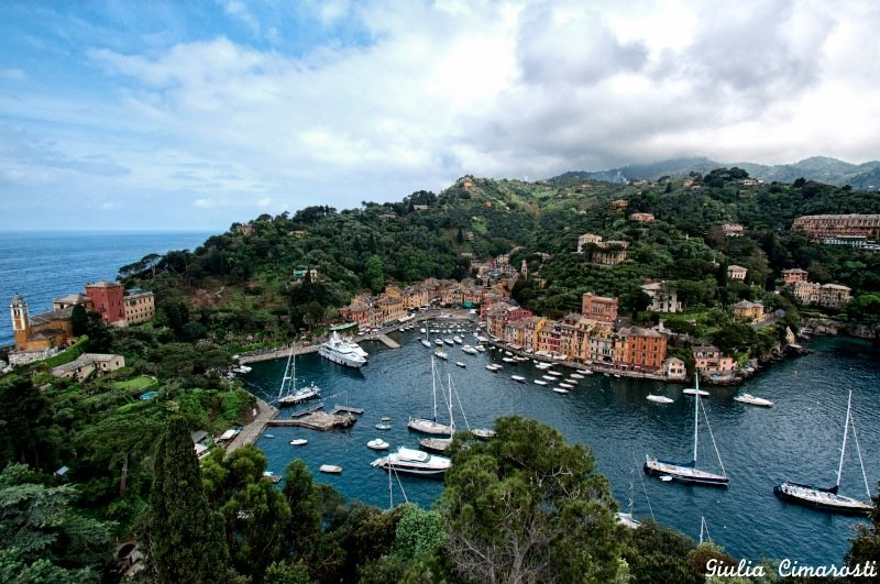 A view of Portofino from above