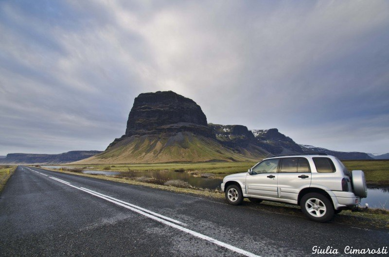 Our car on the way to Reykjavik