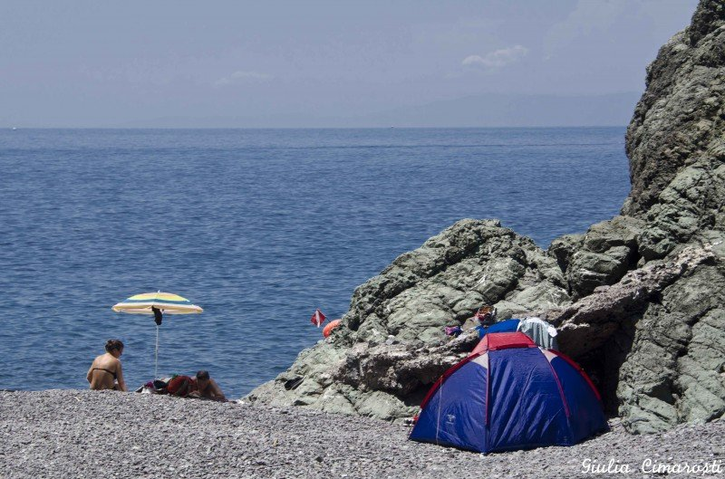 Camping on the sea