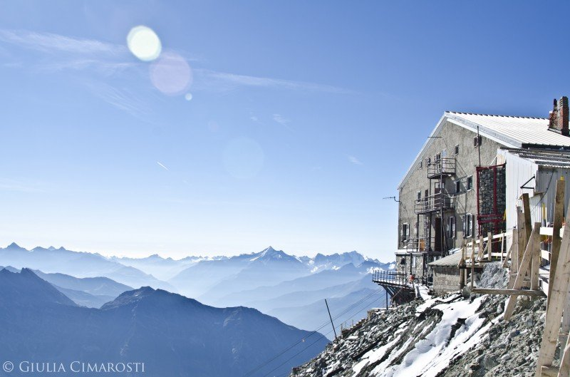 Relax at Rifugio Torino, 3375 meters of altitude.