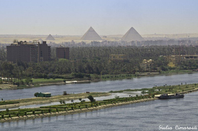 "The view from my office in Cairo. Therefore ""I am so lucky"""