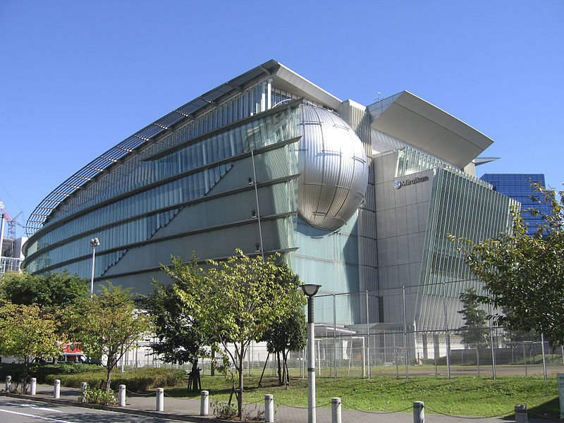 The Miraikan Science Museum in Tokyo with its planetarium