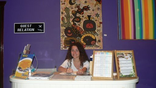 Back in 2007 in Roatan I sat at the Guest Relations desk - I was just kidding here... but now it will be for real!