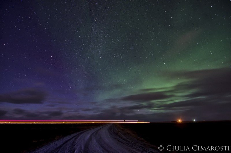 The Northern Lights outside of Blonduos, Iceland