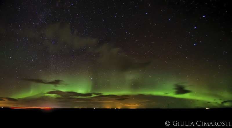 My first aurora in Iceland