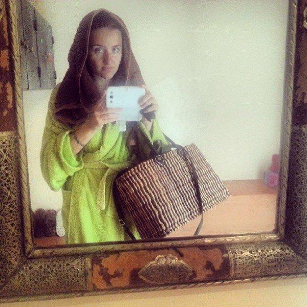 """Me in the """"fancy"""" hammam in Marrakech"""