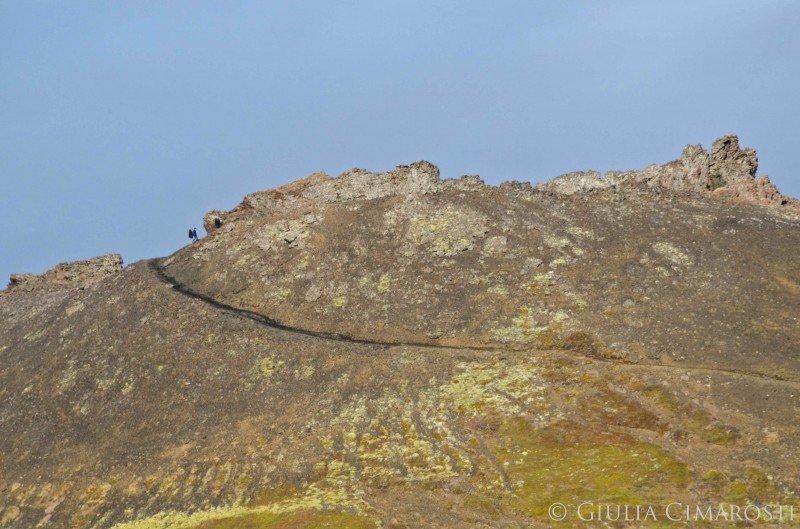 A lucky climber on top of Saxholl